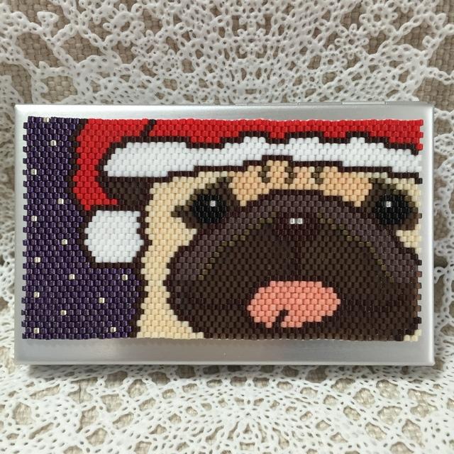 カードケース(クリスマス-パグ?)