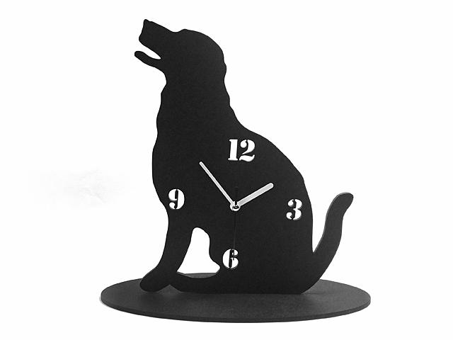 ★新作★ 【送料¥250】 黒犬の時計【レトリバー】