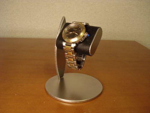 父の日に ブラックコルクデスクスタンド だ円パイプ1本掛け腕時計スタンド ak-design