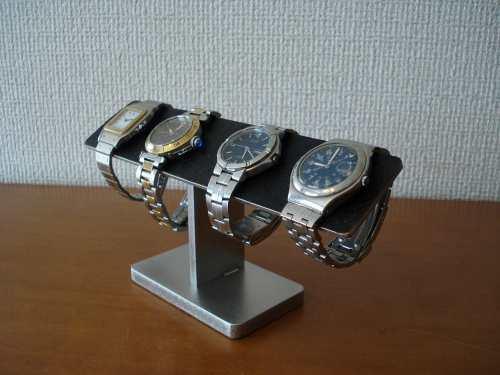 プレゼントに!4本掛けブラック腕時計スタンド