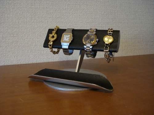 ブラック4本掛け半円腕時計スタンド