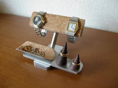 結婚祝いに! だ円パイプ 腕時計、リングアクセサリー収納スタンド 受注生産 ak-design