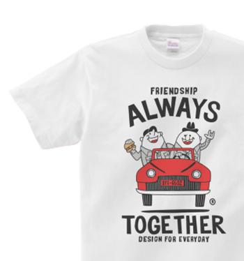 ビーンズマンとレトロ車 WM〜WL?S〜XL Tシャツ【受注生産品】
