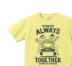 ビーンズマンとレトロ車 XS(女性XS〜S) Tシャツ 【受注生産品】