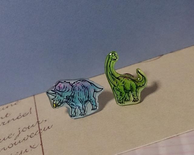 *m様ご予約品*恐竜のミニピアス