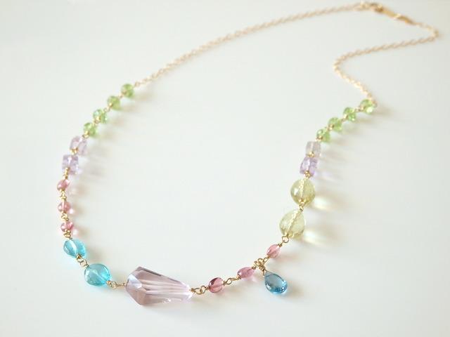 K14gf×bijou necklace