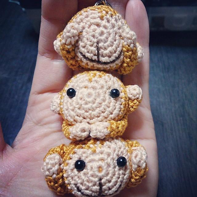 3猿団子ストラップ