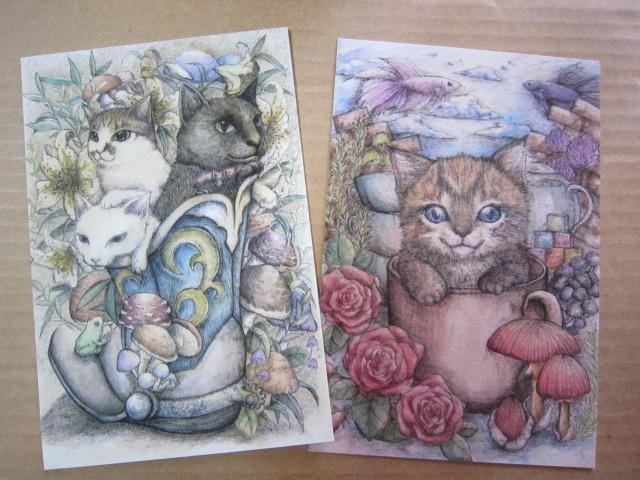 ポストカード2枚セット 『猫』