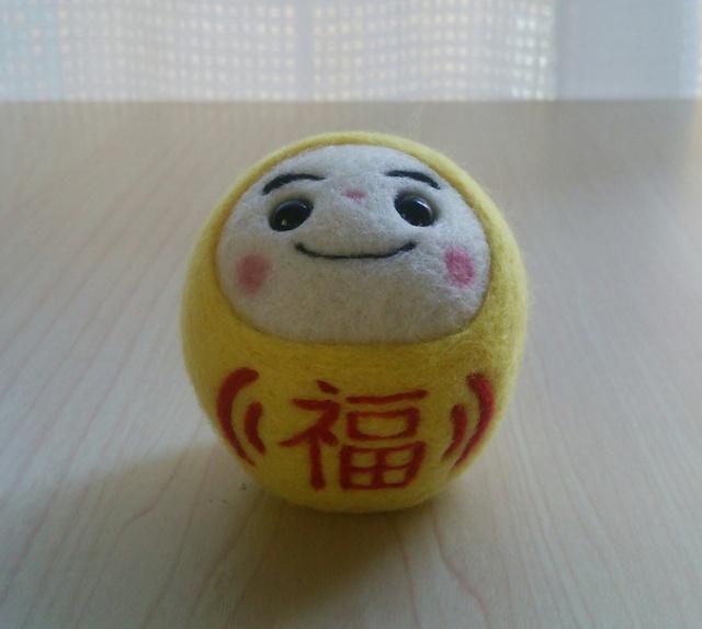 K様オーダー品 (黄色だるま「福」)