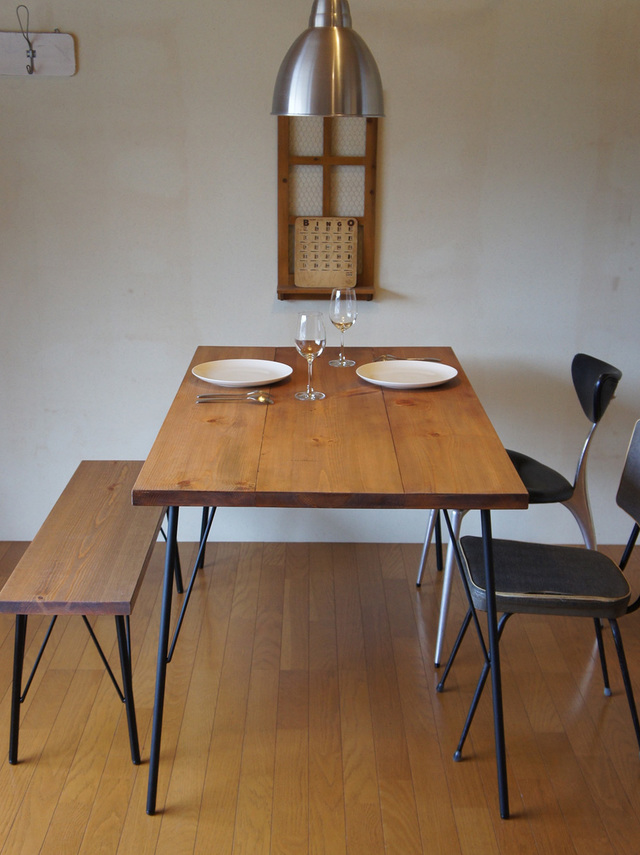 Landmark table & bench set  14*74