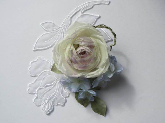 薔薇とあじさいのコサージュ   送料無料