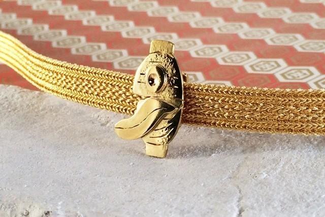 ◆チョウチンおばけ◆ 真鍮帯留め