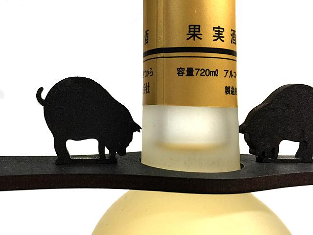 【送料¥90】 かわいい【黒豚】木製グラスハンガー