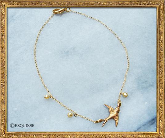 ゴールドツバメのアンクレット