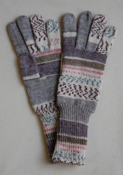 手編み5本指手袋 No.11【再販】