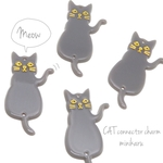 A type (gray🐾4pcs)CAT connector charm