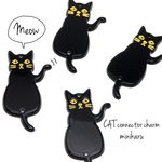 A type (Black🐾4pcs)CAT connector charm