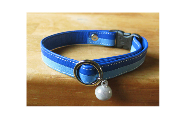 cat collar【Schelm】* blue × blue