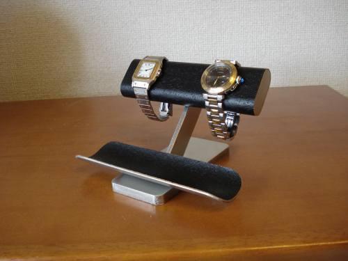 誕生日に!インテリアオールブラックコルク腕時計スタンド