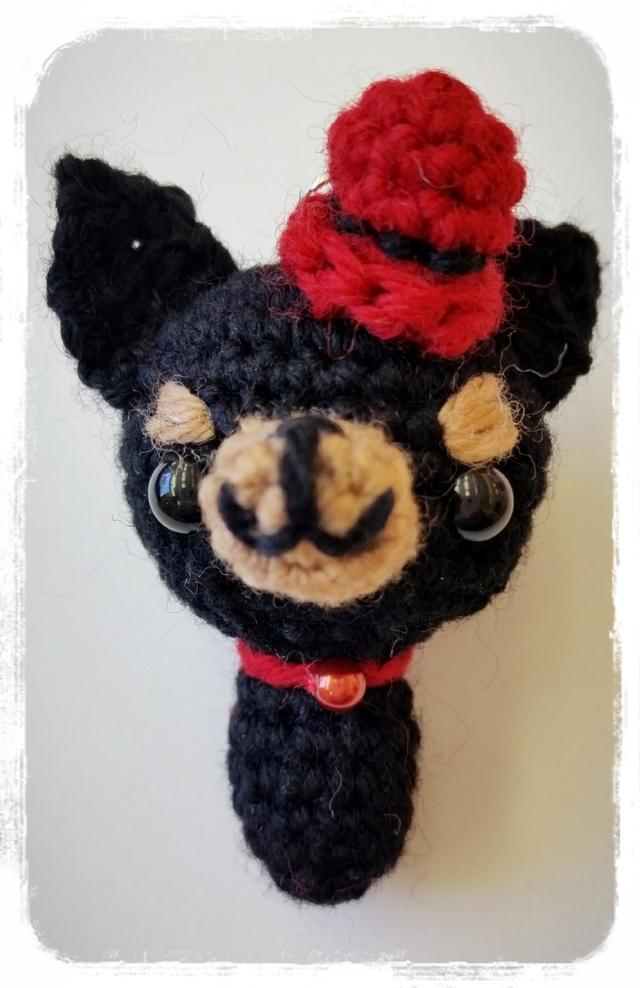 チワワ 編みぐるみストラップ