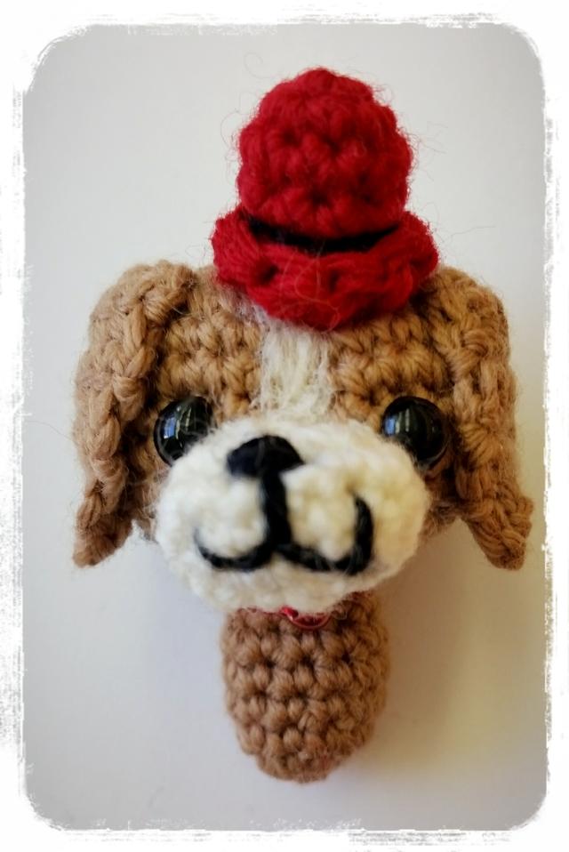 ビーグル 編みぐるみストラップ