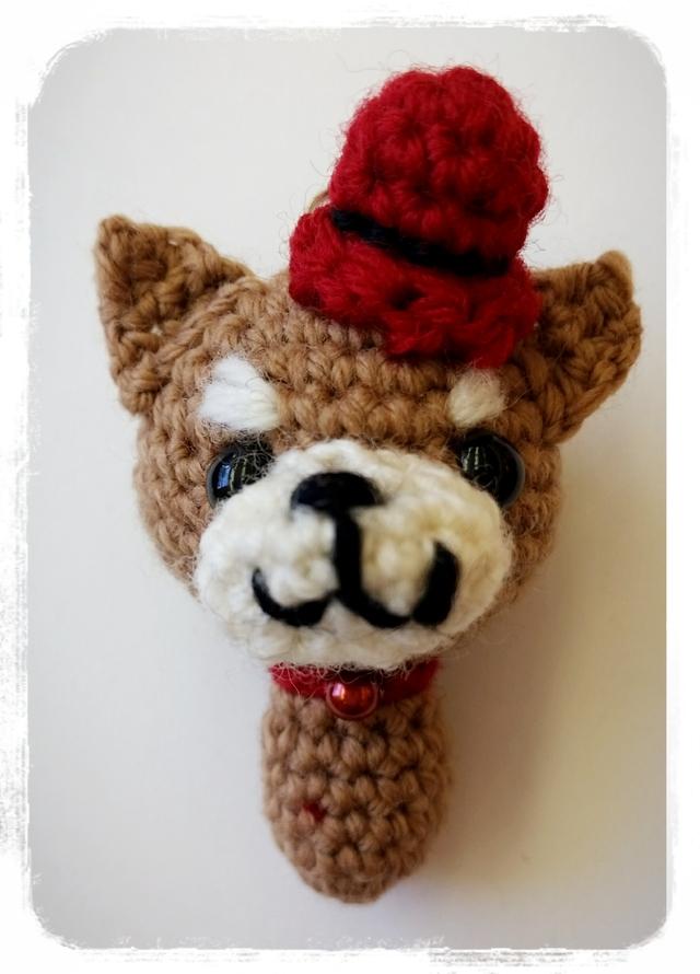 柴犬 編みぐるみストラップ