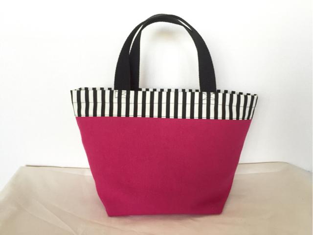 綿麻帆布のminiトートバッグ*ピンク