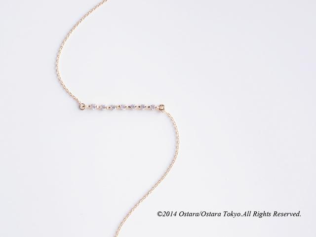【14KGF】Bracelet,16KGP Cubic Zirconia Bar