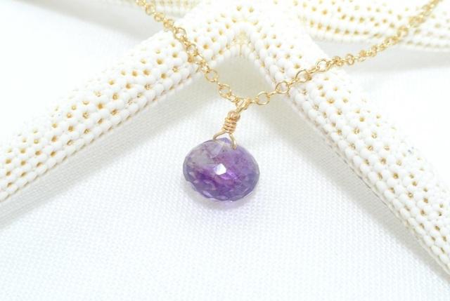 再販【14kgf】エレスチャルクォーツ(薄紫)のネックレス