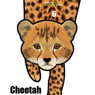 Cheetah-01 チーターの振り子時計