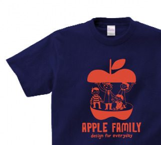 APPLE FAMILY  150.160.(女性M.L) S〜XL Tシャツ【受注生産品】