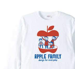 APPLE FAMILY   長袖Tシャツ【受注生産品】