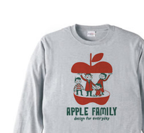 APPLE FAMILY   長袖Tシャツ【受注生産品】