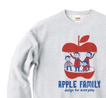 APPLE FAMILY トレーナー【受注生産品】