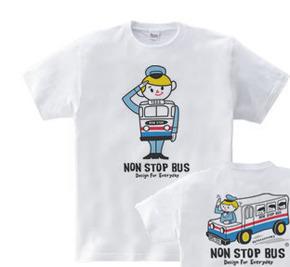 【再販】レトロバス&ドライバーボーイ☆アメリカン  WS〜WM?S〜XL Tシャツ【受注生産品】