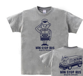 レトロバス&ドライバーボーイ WS〜WM?S〜XL  Tシャツ【受注生産品】