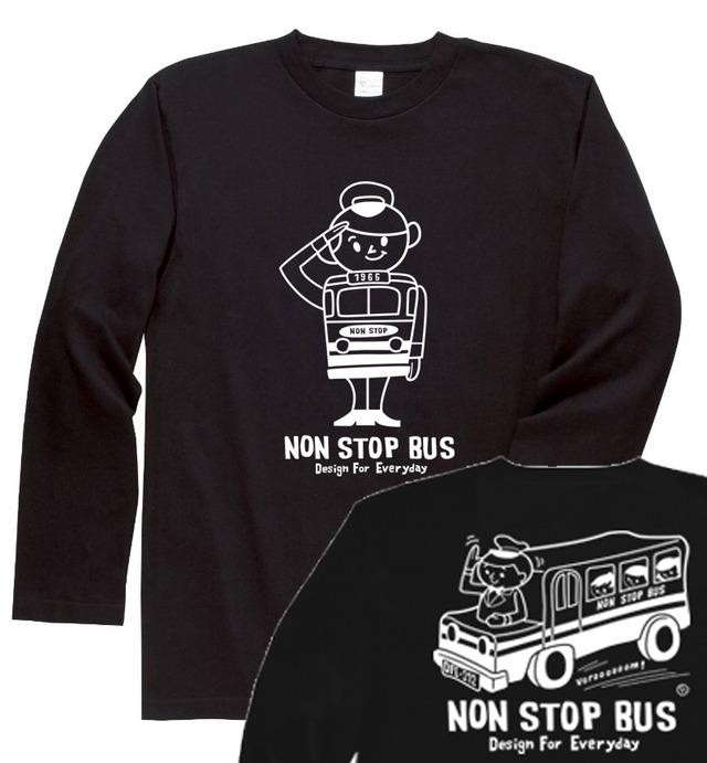 レトロバス&ドライバーボーイ☆アメリカン  長袖Tシャツ【受注生産品】