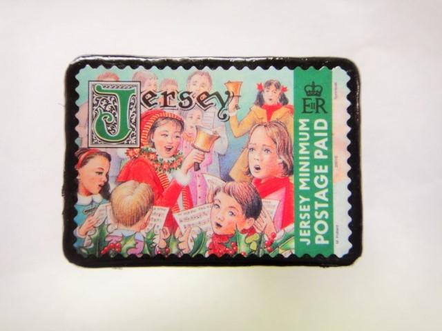 ャージー島 クリスマス切手ブローチ 478