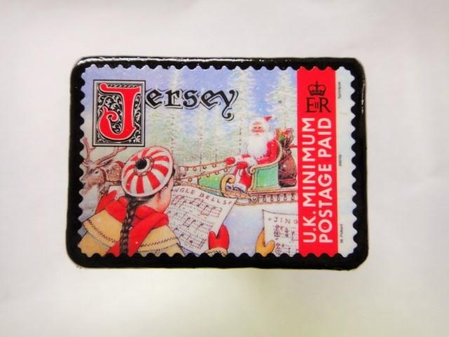 ジャージー島 クリスマス切手ブローチ 480