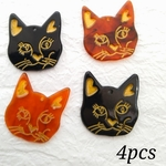 【chmm4194acrc】【4pct】antique style cat charm
