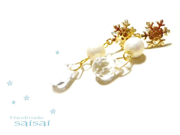 snowwhite drop ピアス(イヤリング可)