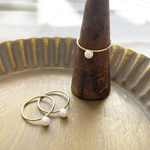 Freshwater pearl 14kgf ring