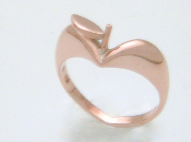 """大人気!かわいい""""りんごの指輪""""ピンクシルバー"""