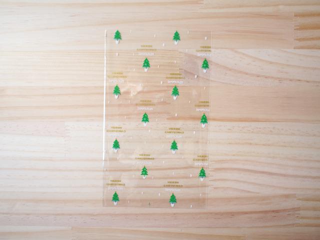 クリスマスツリー透明袋、Mサイズ