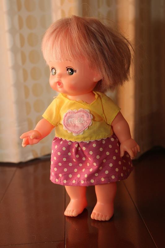 メルちゃんのスカート(ピンク地のドット)