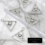 6個入)antique silver eye of providence charm