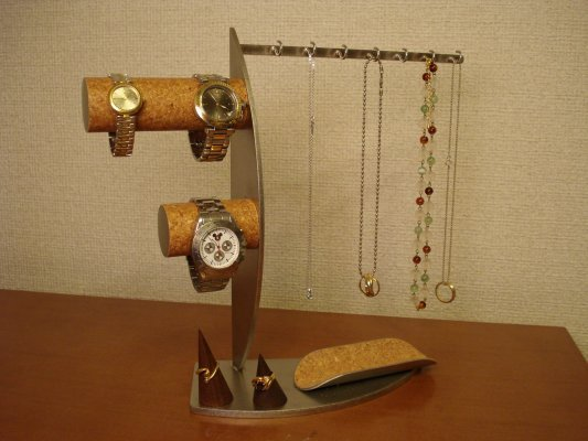 誕生日プレゼントに!!アクセサリー 収納!腕時計、ネックレス、指輪コレクションタワー