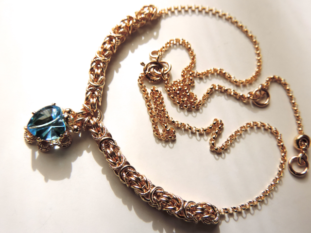 『 Blue sunshine ( heart ) 』Necklace by K14GF