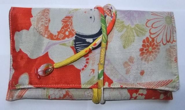 着物リメイク 羽織の裏地で作った和風財布 908