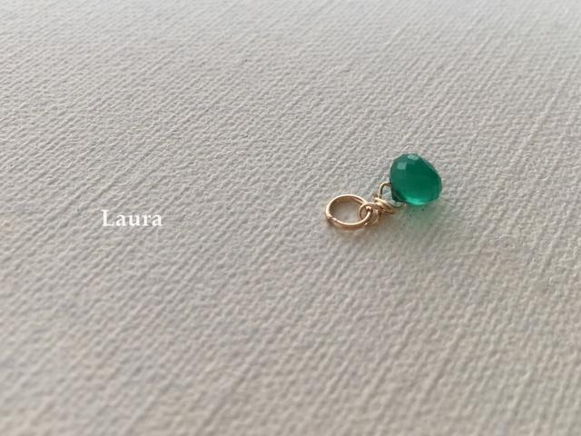【ネックレスチャーム】tiny Green